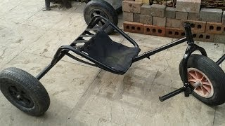 How To Make A Kite Buggy Using An Old Wheelbarrow