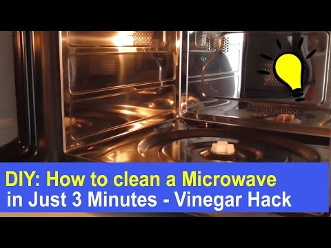 DIY: How to clean a Microwave Oven in just 3 Minutes - Vinegar Cleaning Hack