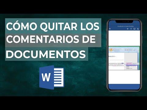 Cómo Quitar los Comentarios o Revisiones de un Documento en Word