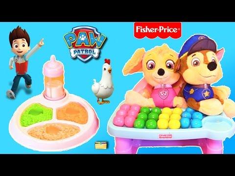 Best Learning Colors Video for Children - Paw Patrol Babies Skye Chase Eat Gumballs