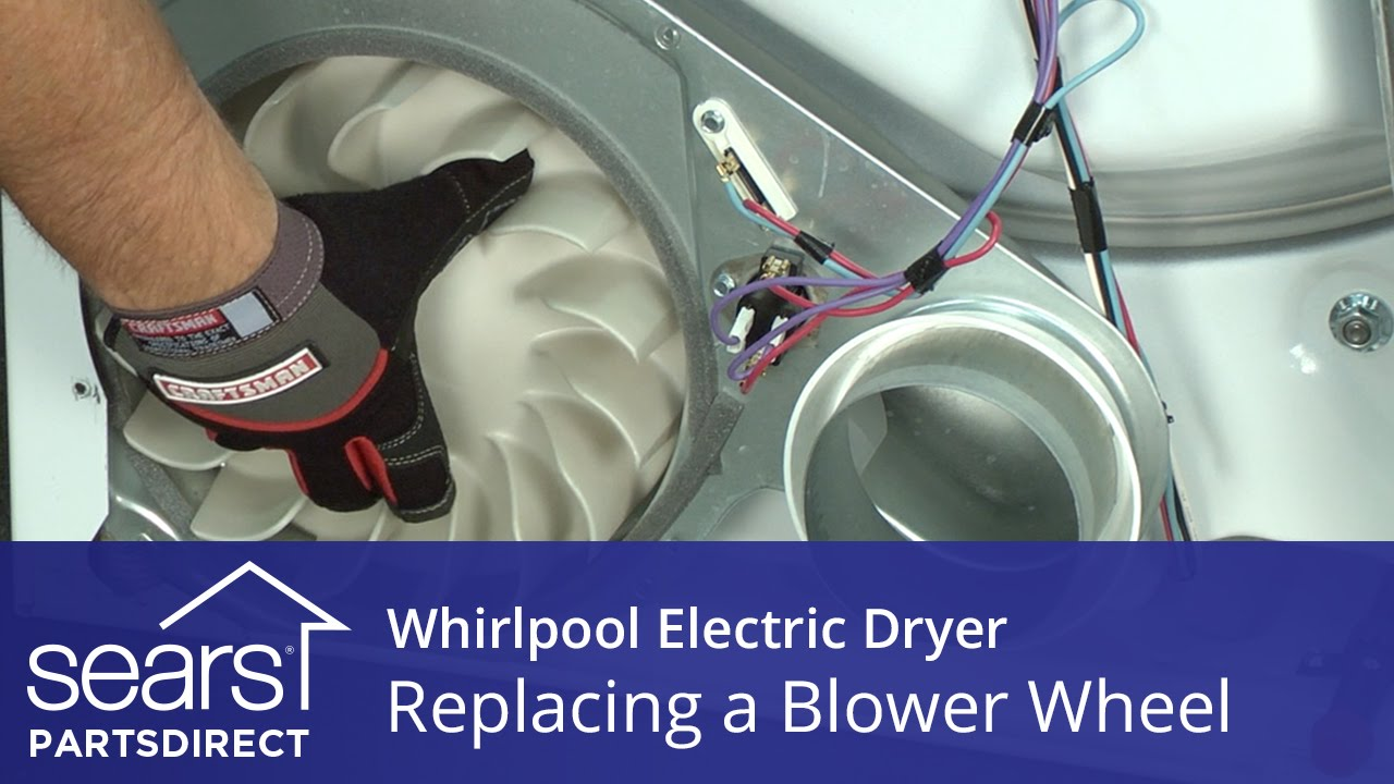 How to Replace a Whirlpool Electric Dryer Blower Wheel - YouTube Diagram Dryer Wiring Whirlpool Lgq Kq on