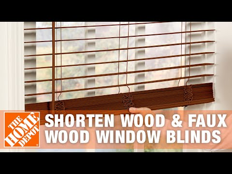 How to Shorten Wood and Faux Wood Window Blinds | The Home Depot