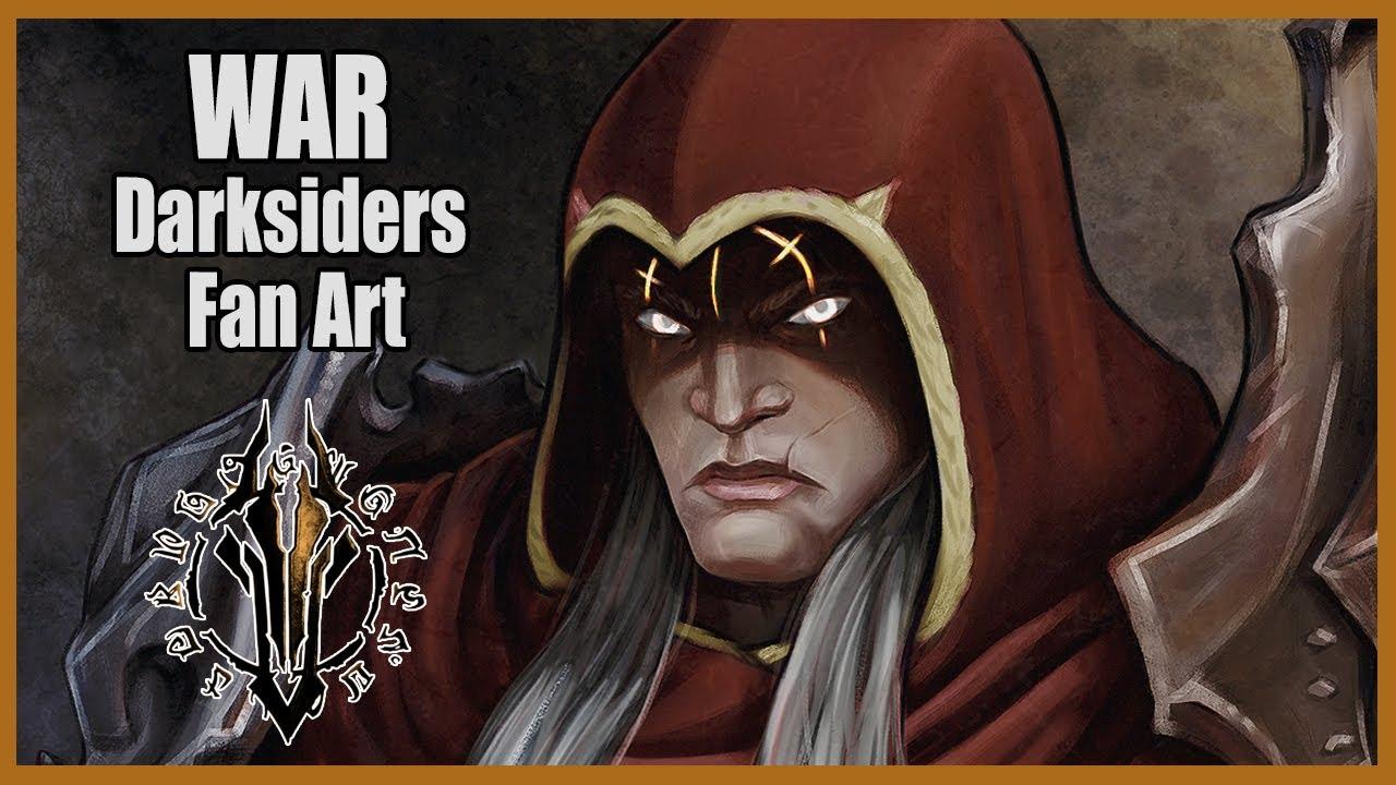 The Horseman War Time Lapse Darksiders Fan Art Youtube