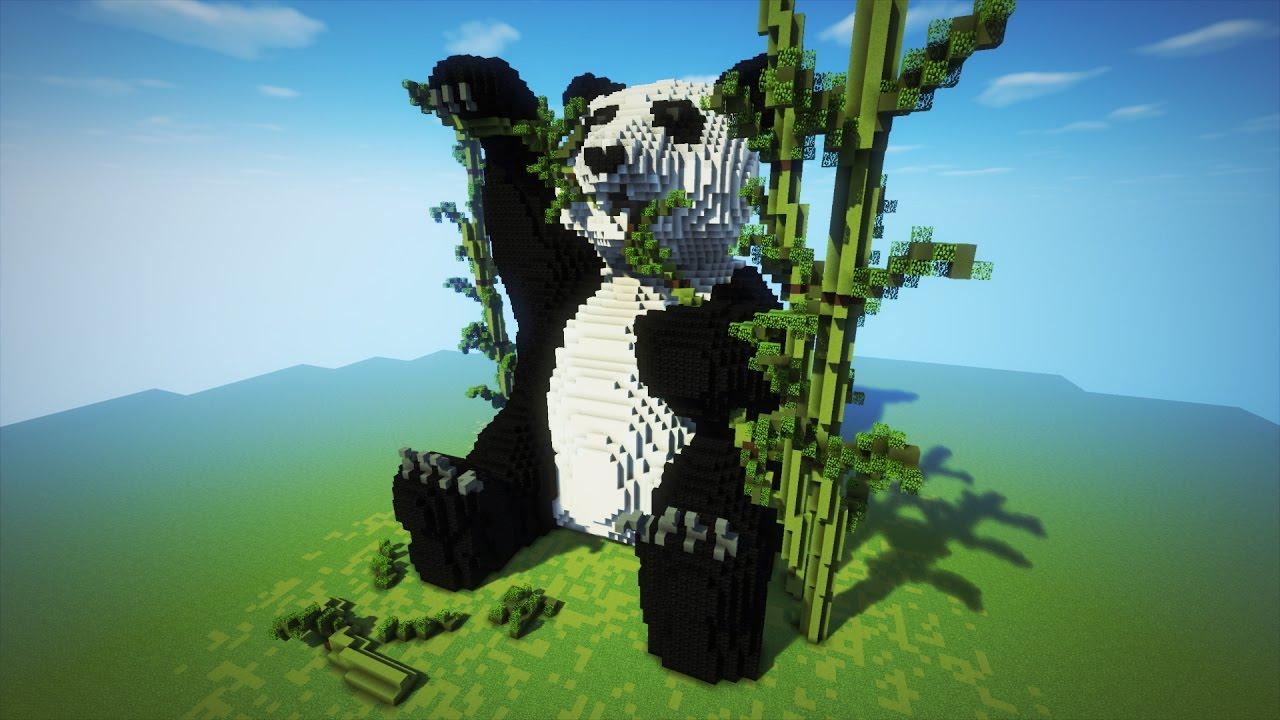minecraft organic panda timelapse youtube