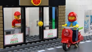 Lego Pizza Delivery(Lego Pizza Delivery is Funny Lego Stop Motion Animation. Our Lego Pizza Delivery Man Needs Some Help., 2016-06-24T15:43:52.000Z)
