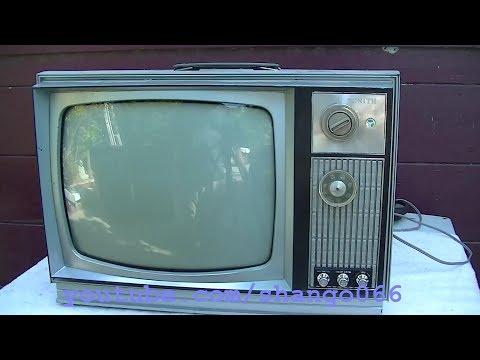 1973 Zenith 14dc15 Diagnosis Vintage Tube Color TV Desktable