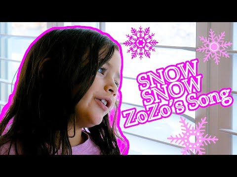 Snow Snow Song! with ZoZo | Song for Kids!
