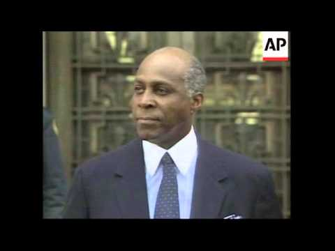 USA: VERNON JORDAN QUESTIONED ABOUT CLINTON/LEWINSKY CASE (2)