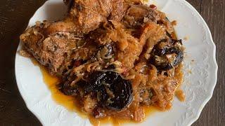 Утка в квашеной капусте с черносливом. Вкусный простой рецепт.