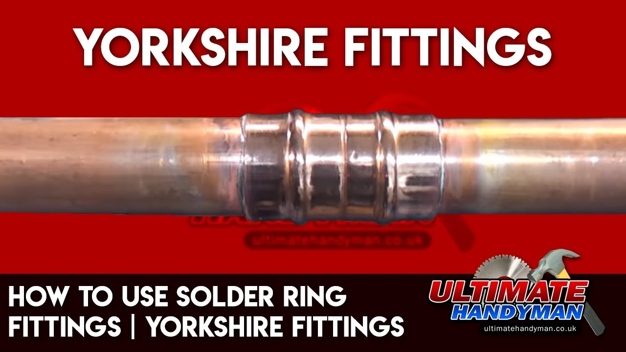 How to use Solder ring fittings   Yorkshire fittings