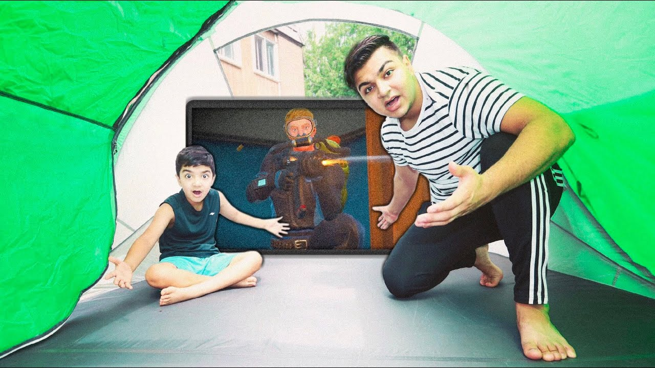 fortnite-tent-fort-challenge-with-my-6-year-old-little-brother-tent-fort-challenge