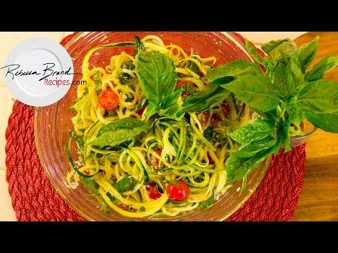 raw-zucchini-spaghetti-with-raw-basil-garlic-sauce-recipe
