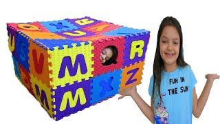 Masal and Öykü with playing Colors Letters Funny Kids Video - Hide and Seek