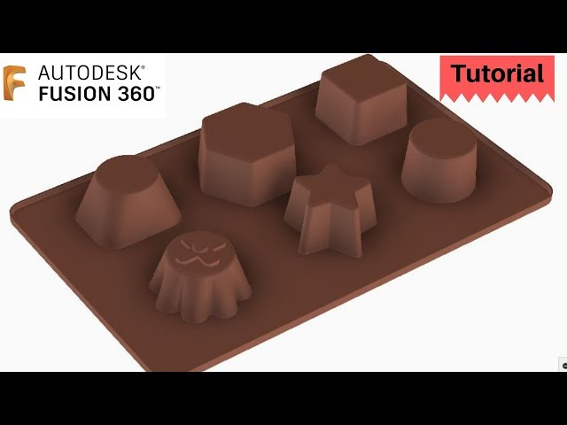 How to make chocolate moulds in Fusion 360? Tutorial - Learn Combine Tool