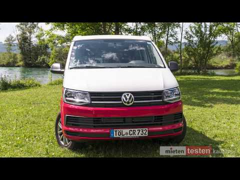 VW T6 California Beach Red and White