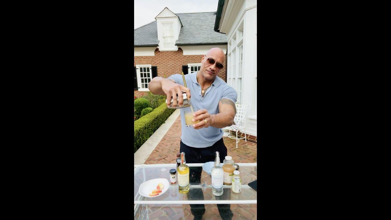Dwayne Johnson Makes The Teremana 'Orchard Apple Manarita' Cocktail