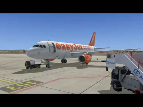 A319 EASYJET Flight from Palma De Mallorca to Vienna - FSX - Live Traffic