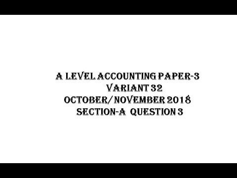 A LEVEL ACCOUNTING PAST PAPER QUESTION 3 ON JOINT VENTURE