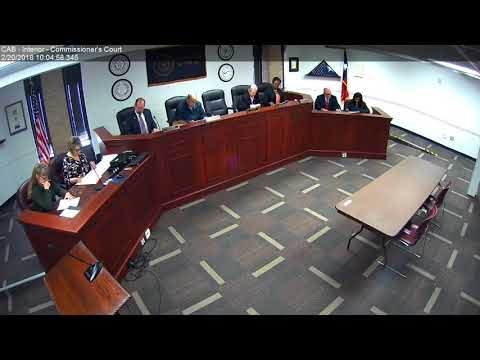 Brazos County Commissioners Court 02-20-18