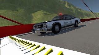 Spike Strip Testing 6 - Crash Sounds - BeamNG.Drive Crashes Compilation