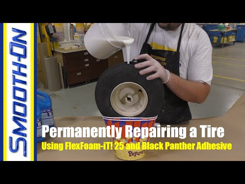 How To Fix A Deflated Tire Using FlexFoam-iT! 25 Expanding Foam