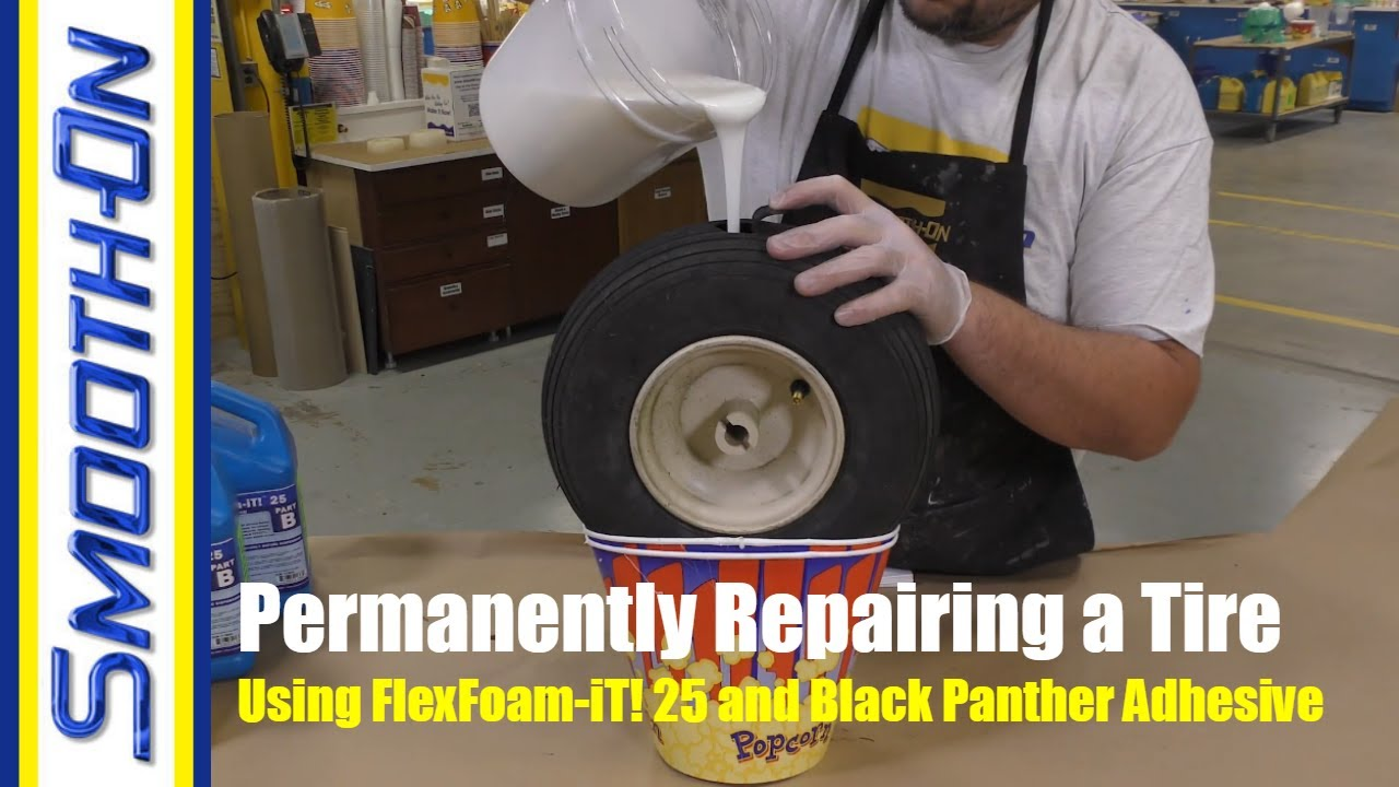 How To Fix a Deflated Tire Using FlexFoam-iT! 25 Expanding ...