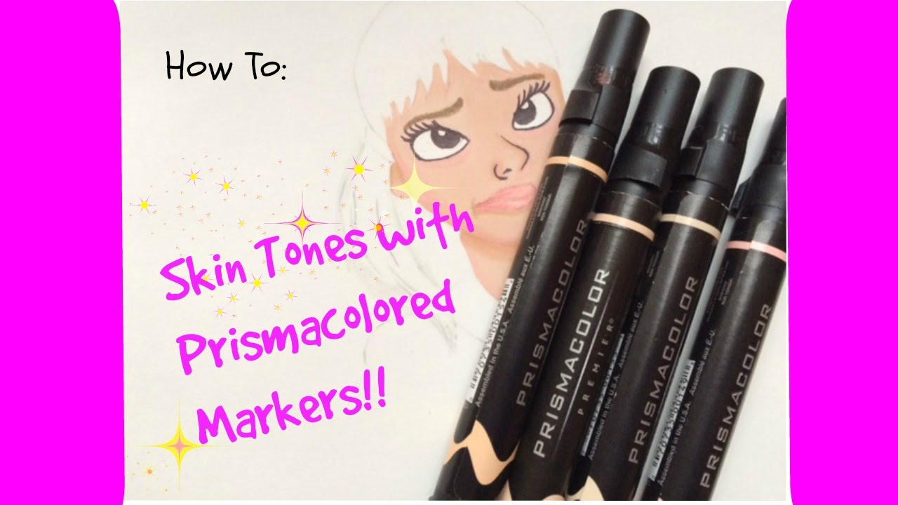 how to color skin tones using prisma markers l beautyofoblivionart - Skin Color Markers