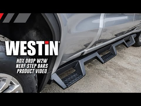 Westin HDX Drop Wheel to Wheel Nerf Step Bars Product Features