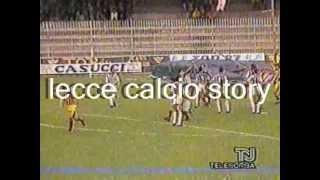 """Il lecce conquista la permanenza in serie aservizio del mitico mimmo de gregorio22/04/1990 - ascoli, stadio """"cino e lillo duca""""ascoli-lecce 0-2marcatori:..."""