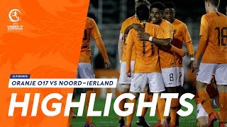 Highlights: Oranje onder 17 - Noord-Ierland (20/03/2019) EK 2019-kwalificatie