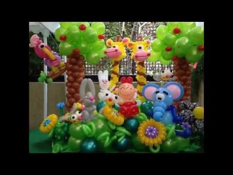 El mundo del globo decoracion de selva video 1 youtube - El mundo decoracion ...