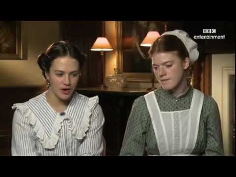 Jessica Brown Findlay and Rose Leslie Downton Abbey