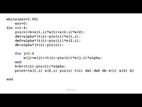 MATLAB Simulation of Adaline Learning
