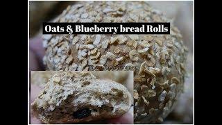 Oats & Blueberry Bread Rolls ( Healthy Bread)
