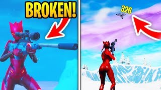 THE NEW SUPPRESSED SNIPER IS BROKEN... (Fortnite New Sniper)