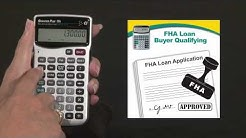 Qualifier Plus IIIDT Buyer Qualifying FHA Loan How To