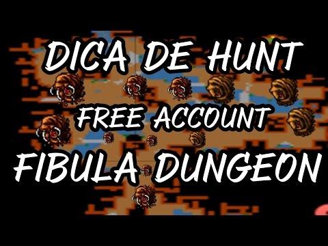 TIBIA - HUNT FREE ACCOUNT - FIBULA DUNGEON