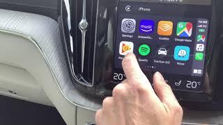 CarPlay2Air Wireless CarPlay Adapter in Volvo XC60