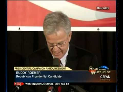 Buddy Roemer Campaign Announcement