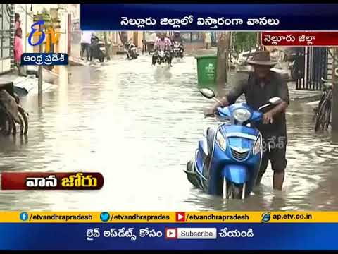 Heavy Rains Hit Nellore District | roads full of water
