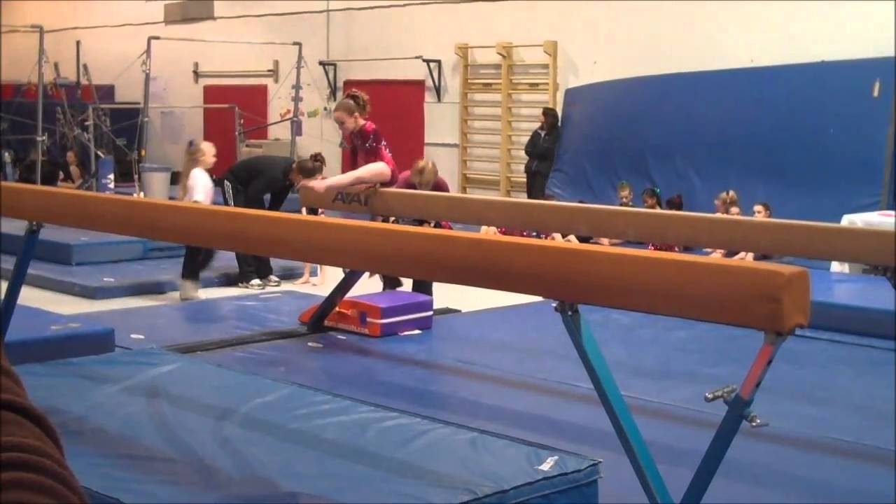 Meghan at 1st Class Gymnastics meet 2-27-11 - YouTube