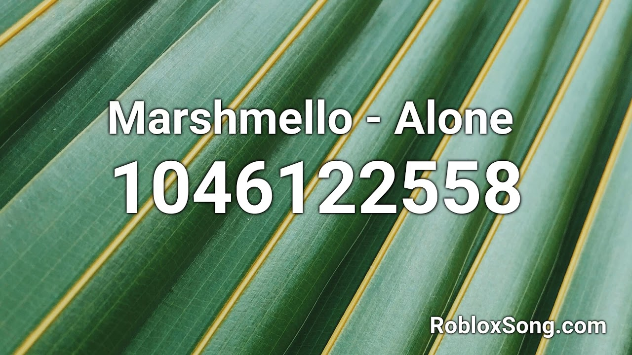 Marshmello Alone Roblox Id Music Code Youtube