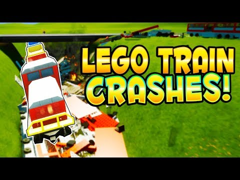LEGO TRAIN CRASHES! - Brick Rigs Gameplay - Let's Crash Some Lego Trains! Brick Rigs User Creations