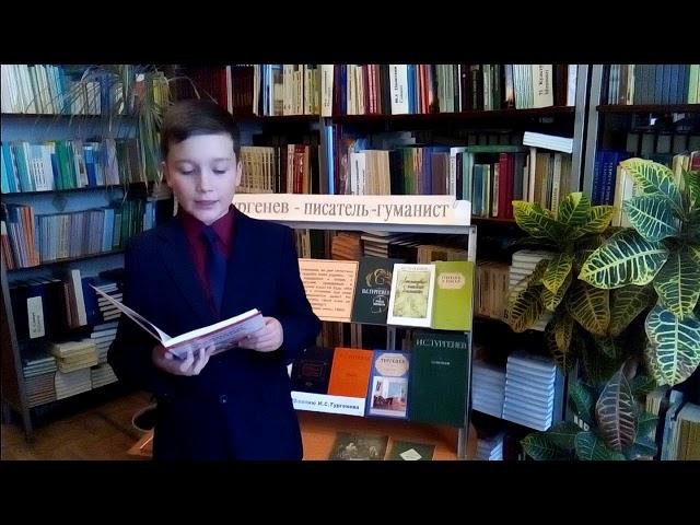 Изображение предпросмотра прочтения – ДмитрийЕлисеев читает произведение «Стихотворение в прозе. Русский язык» И.С.Тургенева