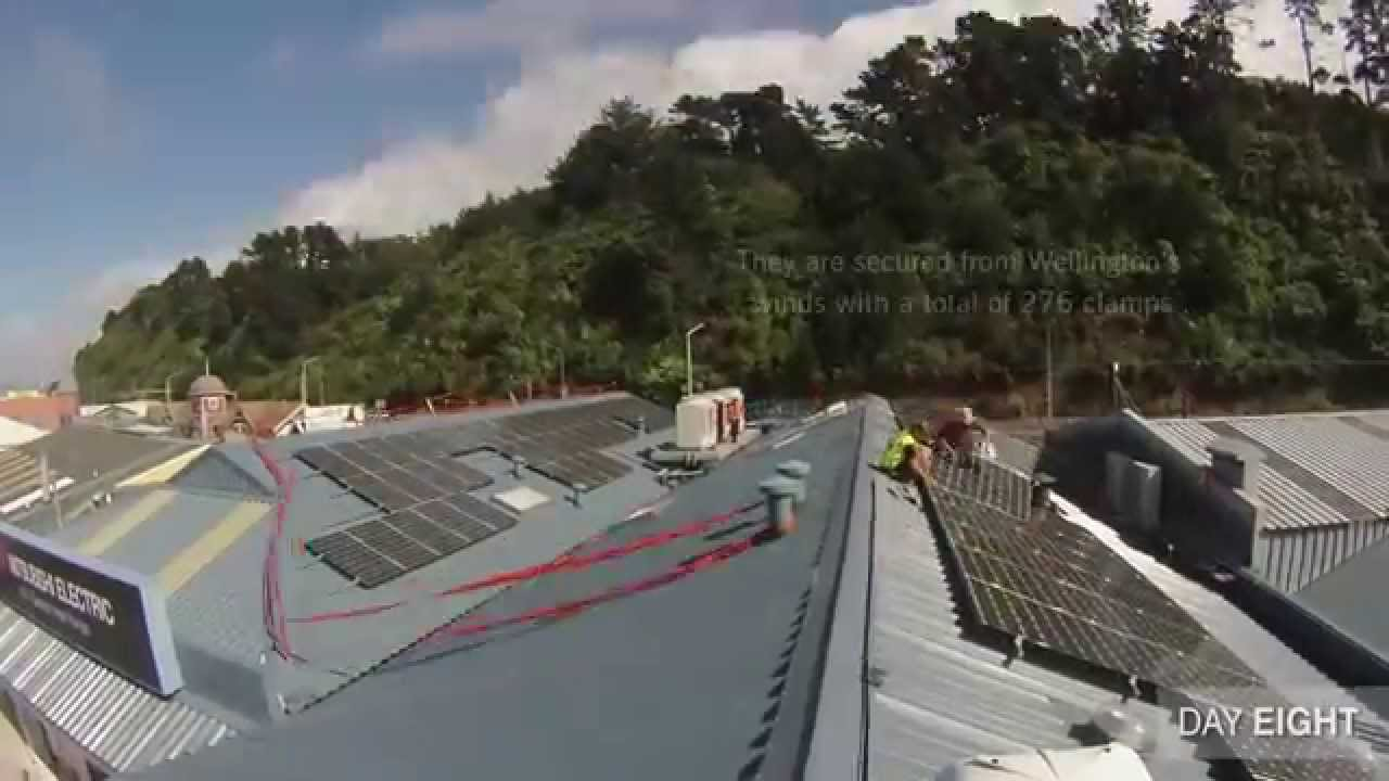 mitsubishi electric solar commercial install youtube. Black Bedroom Furniture Sets. Home Design Ideas