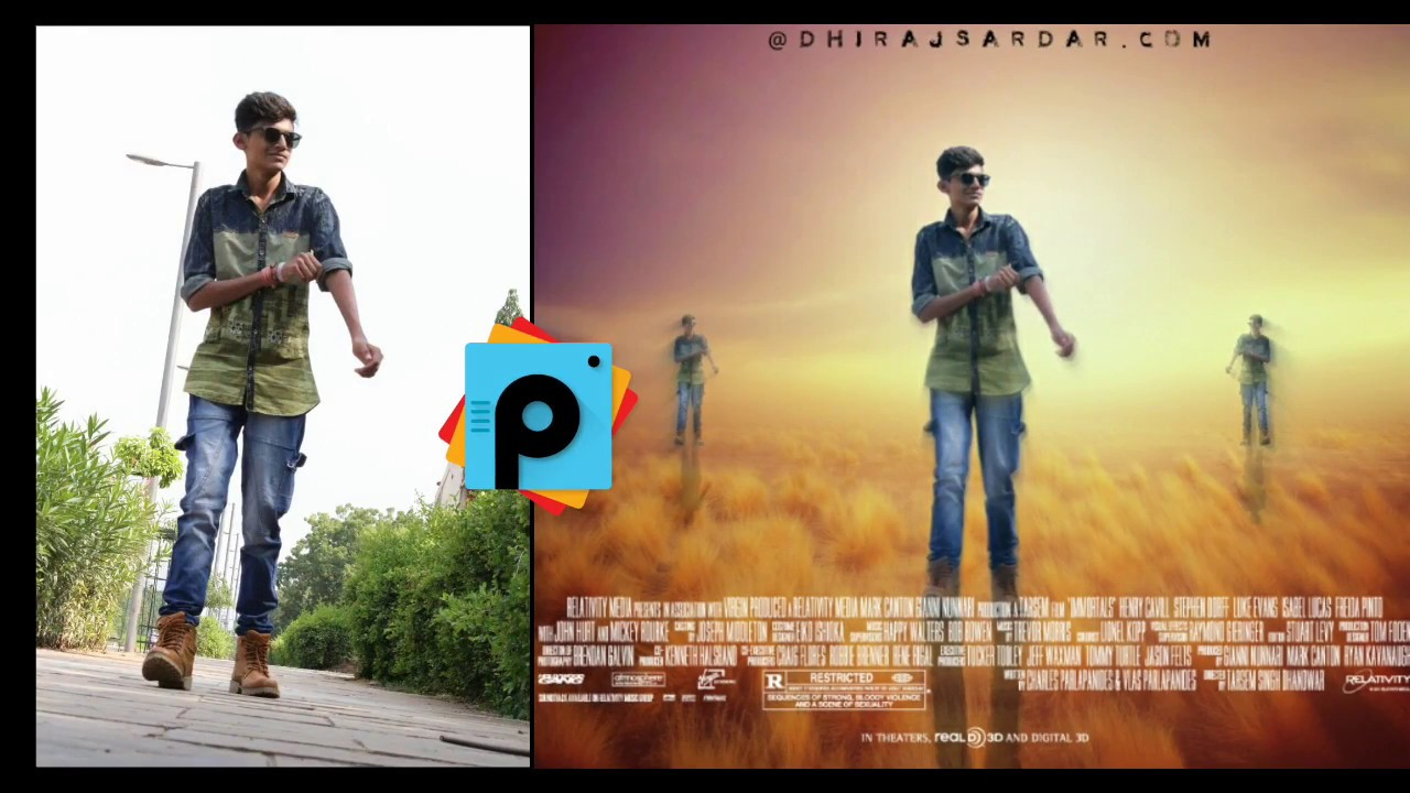 Poster design jeans - Movie Poster Design In Picsart A Super Hero Picsart Editing Tutorial 2017 Youtube