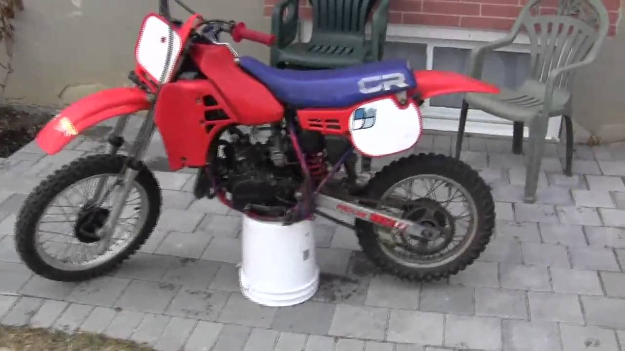 1984 Honda CR80R Dirtbike Startup And Walkaround   YouTube