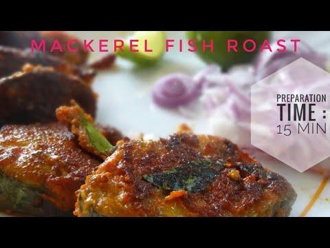 Mackerel Fish Roast/ Vanjaram Tawa Fry: Cooked In Minimum Oil