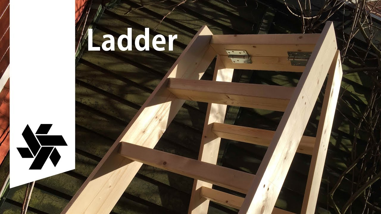 Diy Folding Ladder Woodworking Project Youtube