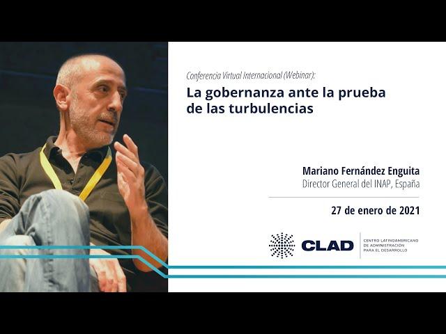 #WebinarCLAD La gobernanza ante la prueba de las turbulencias